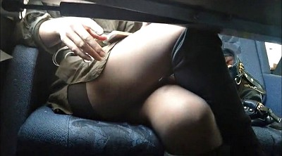 Upskirt, Under table, Table, Under, Pantyhose upskirt, Public pantyhose