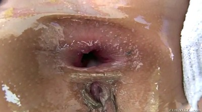 Oiled up, Shorts, Fucking close up, Anal rough