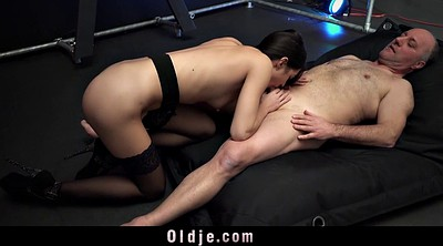 Old man, Italian, Young girl, Bondage sex, Bondage fuck, Young man