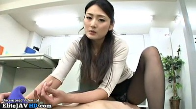 Nylon, Japanese pantyhose, Japanese massage, Pantyhose fetish, Japanese foot, Japanese handjob
