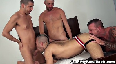 Foursome, Kiss, Foursome anal, Bedroom