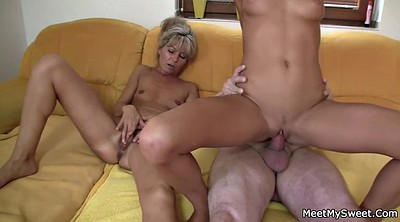 Family, Teen threesome, Naked, Mature young