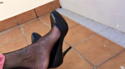 Nylon foot, Nylon feet, Feet nylon, Dangling