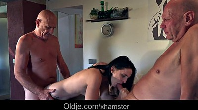 Teen and old, Granny fingering