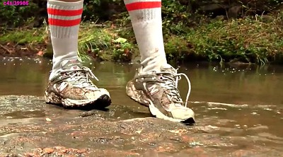 Water, Foot fetish, Footing, Sneaker, Preview