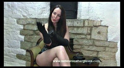 Latex, Leather, Gloves, Glove, British milf