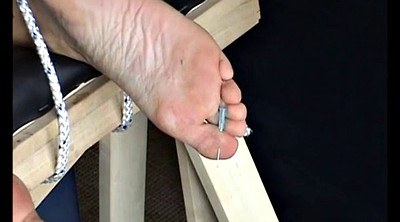 Needle, Mature feet, Needles, Piercings, Extreme mature, Extreme bdsm