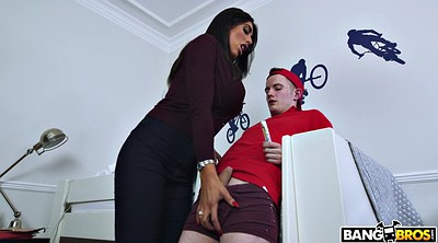 Stepson, Mom blowjob, British mom
