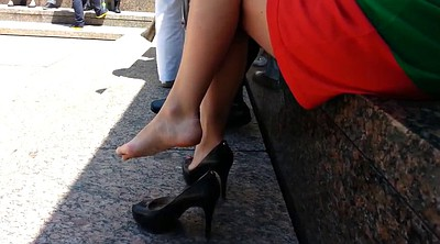 Candid, High-heeled shoes