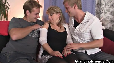 Old lady, Mature wife, Old young threesome, Hot milf