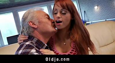 Old man, Porn, Old man fuck young girl, Casting granny
