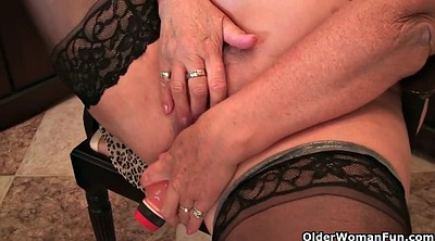 Home, Granny masturbation, Granny solo, At home, Mature dildo, British granny