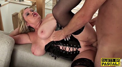 Mature, Mature maid, British mature, Big tits bdsm