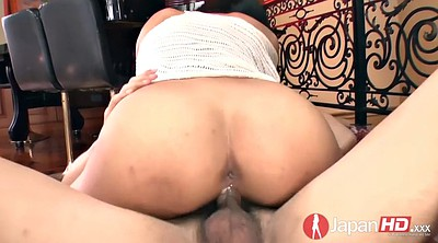 Missionary creampie, Japanese hairy pussy