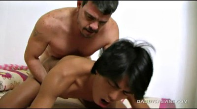 Father, Feet, Old daddy, Old gay, Asian old, Interracial asian