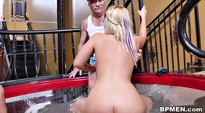Young, Old man, Granny anal, Blonde granny