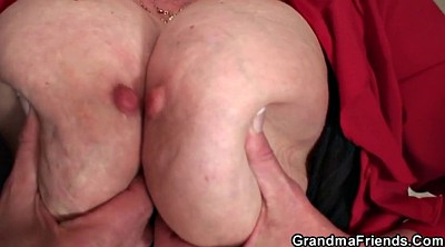 Threesome, Old young threesome, Old pussy, Mature and young