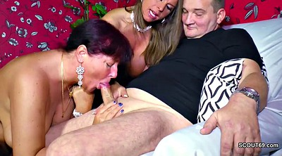 Money, Old daddy, Threesome, Mom seduce, For money, Mom dad