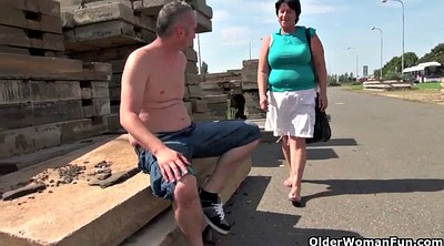 Grandpa, Bbw granny, Mature outdoor, Granny outdoor