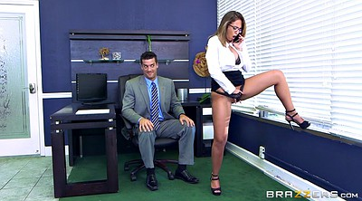 Office tease, Layla, Caught masturbating