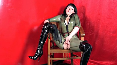 Latex, Boot, Catsuit, Latex boots, Milf boots, Boots latex