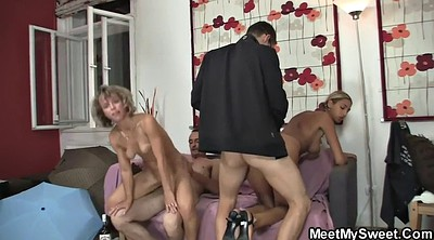 Foursome, Old couple, Mature couple, Couple foursome, Mature group, Mature foursome