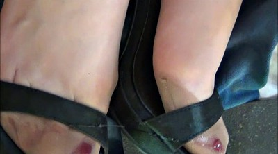 Shoe, Nylon feet, Stocking feet, Shoe cum, Satin, Nylon foot