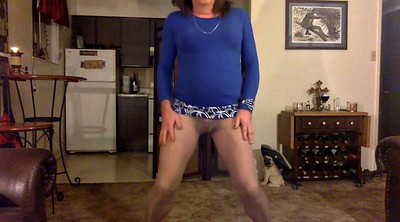 Cd, Skirt, Blue, Gay pantyhose