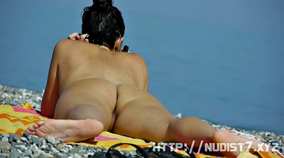 Nudism, Mature couple, Teen beach