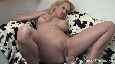 Blonde, Pussy dildo, Trimmed