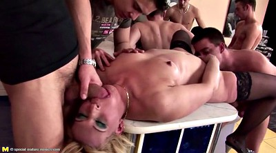 Pissing, Piss, Old mom, Gangbang mom, Young and old, Young mom