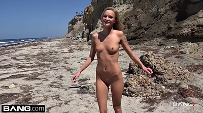 Beach, Skinny, Beach sex, Real public