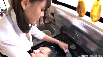 Hairy pussy, Japanese ride
