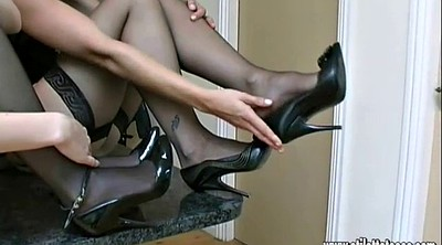 Nylon foot, High heels, Shoes, High, Nylon cock