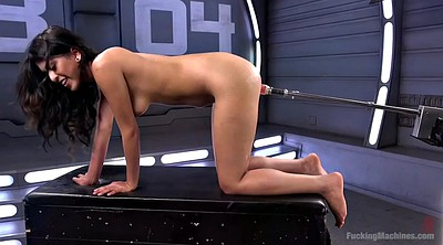 Machine, Hairy solo, Test, Orgasm masturbation, Fucking machine