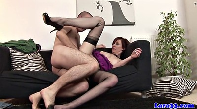 Stocking fuck, Milf, British, Stocking mature