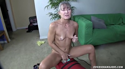 Machine, Rubbing, Mature handjob