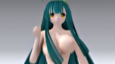 Mmd, Green hair, Mmd hentai, Green