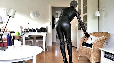 Mature, Boots, Tranny, Leather