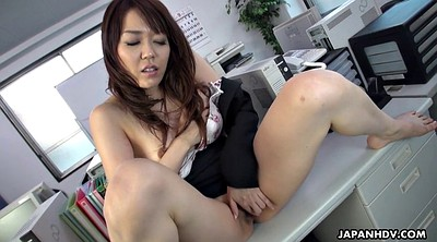 Japanese office, Clit, Table, Japanese orgasm, Japanese big pussy