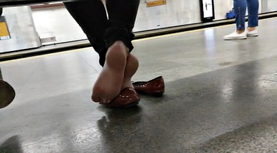 Candid, Flat, Subway, Candid feet
