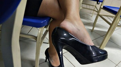 Shoeplay, Leggings, Tatoo, High-heeled, Feet candid