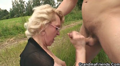 Street, Grandmother, Young boy, Teen boy, Granny boy, Milf and boy