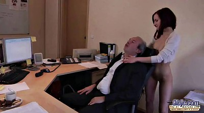 Old, Sister, Deep, Office boss, Big clit, Office fuck