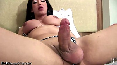 Huge tits, Shemale cum, Pumping, Transsexual