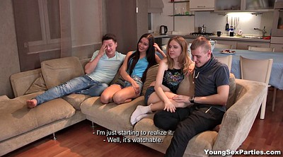 Foursome, Swinger, Swinger foursome, Young couple