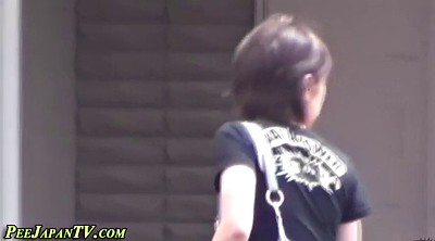 Piss, Japanese piss, Japanese voyeur, Japanese girl, Japanese public, Dress