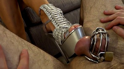 Cage, High, Shoe, Tease, Queen femdom, High shoes