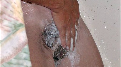 Skinny hairy, Bush, Showers, Hairy bush
