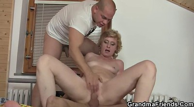 Wife share, Share wife, Wife threesome, Old lady, Delivery, Share